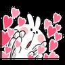 Spoiled rabbit 1 - Tray Sticker