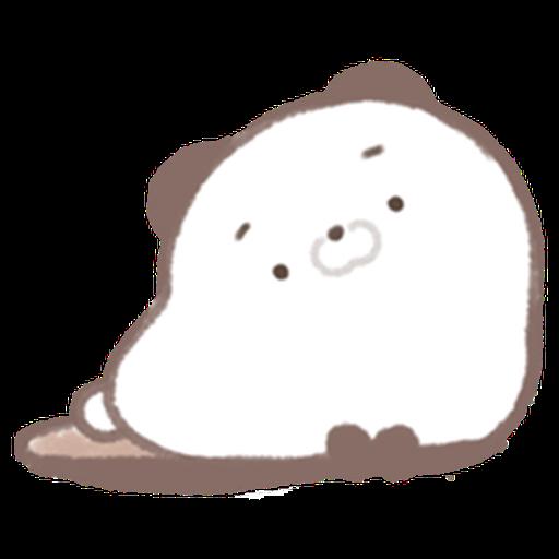 Cute panda  - Tray Sticker