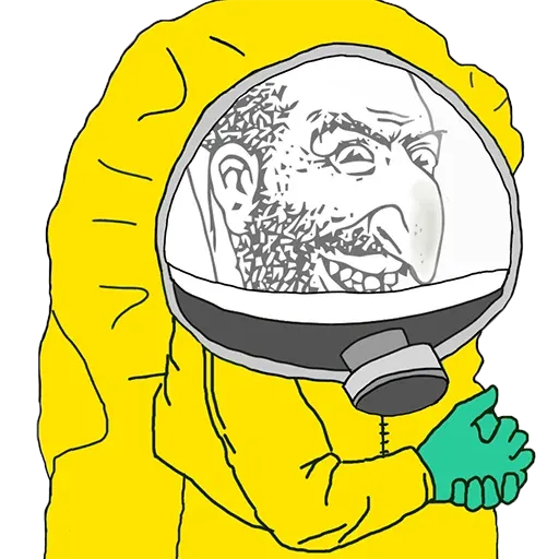 Hazmat Pepe - Sticker 24
