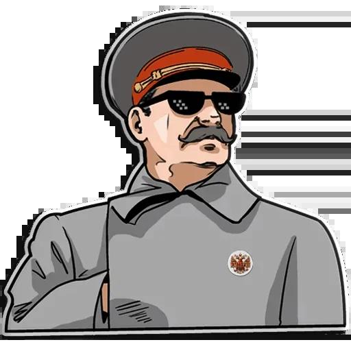 Сталин - Tray Sticker