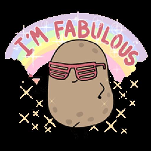 Kawaii Potato - Sticker 23