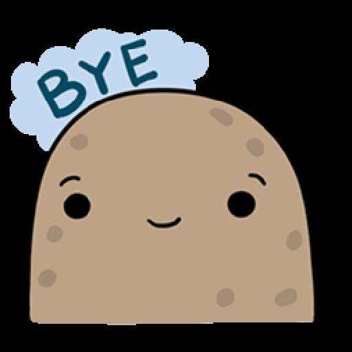 Kawaii Potato - Sticker 21