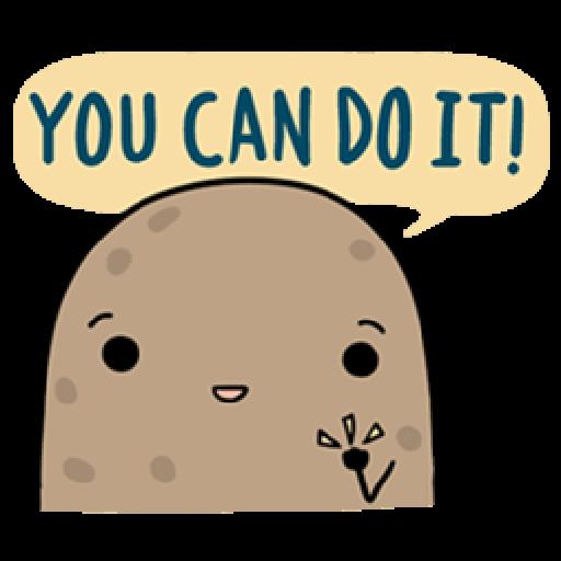 Kawaii Potato - Sticker 19
