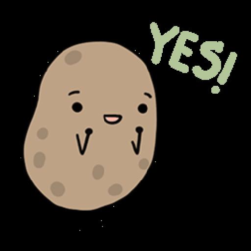 Kawaii Potato - Sticker 17