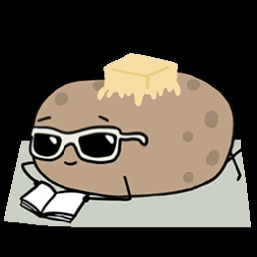 Kawaii Potato - Sticker 12