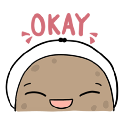 Kawaii Potato - Sticker 4
