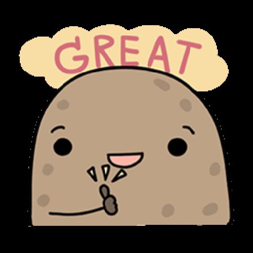 Kawaii Potato - Sticker 9