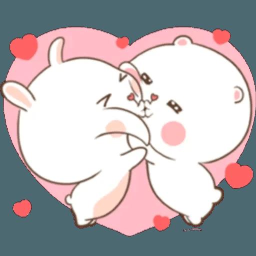 Puffy Rabbit 2 - Tray Sticker