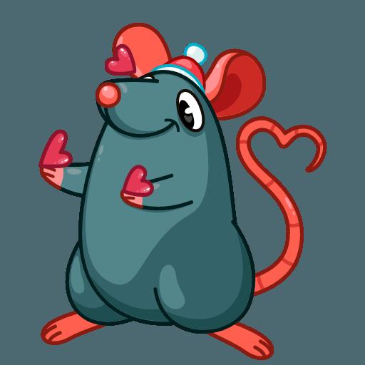 Mr. Christmas Rat - Sticker 14