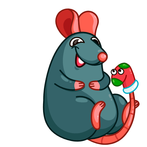 Mr. Christmas Rat - Sticker 3