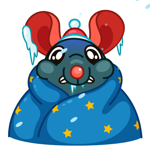 Mr. Christmas Rat - Sticker 1