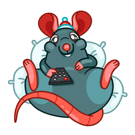 Mr. Christmas Rat - Sticker 13