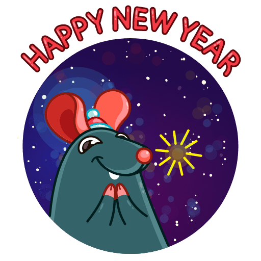 Mr. Christmas Rat - Sticker 12