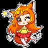 Alice Fox - Tray Sticker