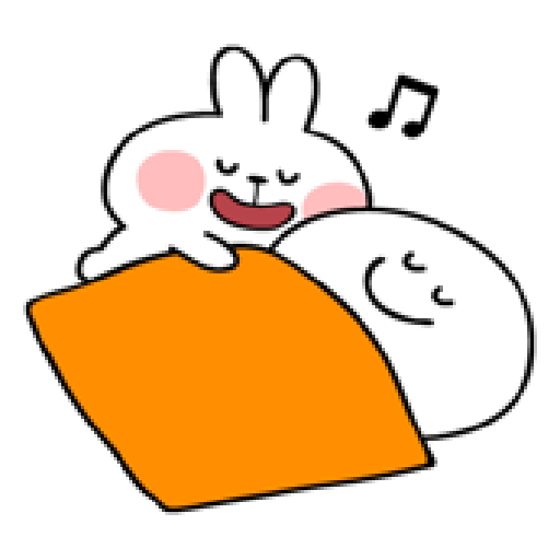 spoiled rabbit smile person 10 - Sticker 20