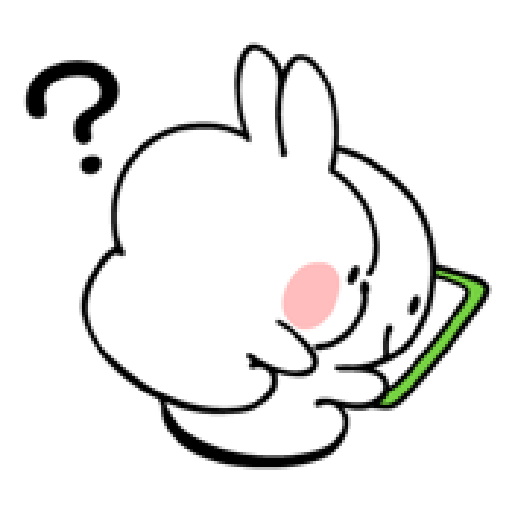 spoiled rabbit smile person 10 - Sticker 26