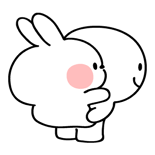 spoiled rabbit smile person 10 - Sticker 27