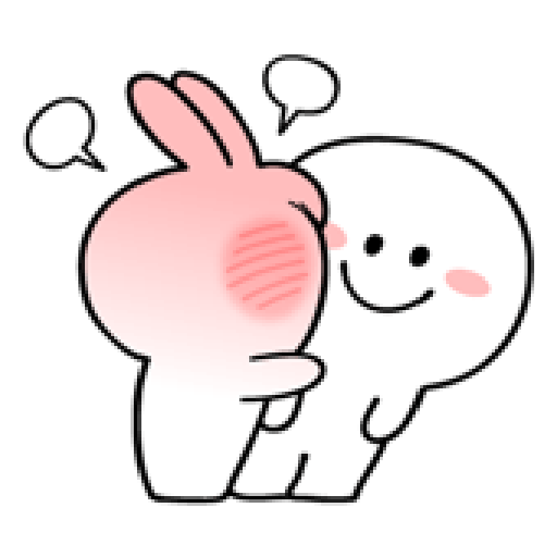 spoiled rabbit smile person 10 - Sticker 14