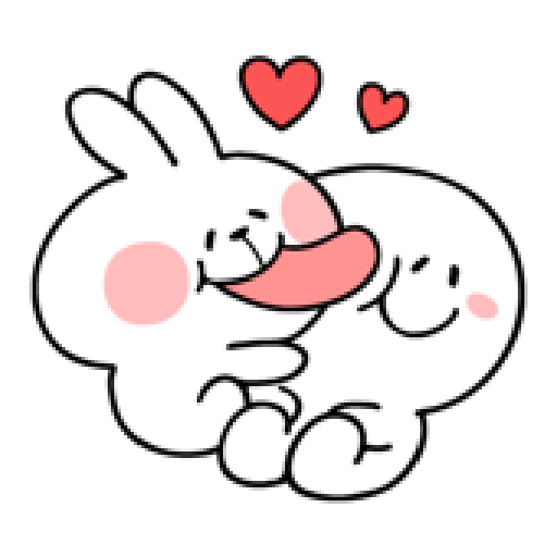 spoiled rabbit smile person 10 - Sticker 19