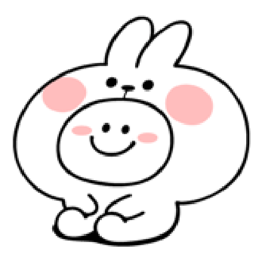 spoiled rabbit smile person 10 - Tray Sticker
