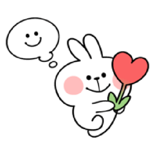 spoiled rabbit smile person 10 - Sticker 28