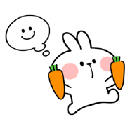 spoiled rabbit smile person 10 - Sticker 3