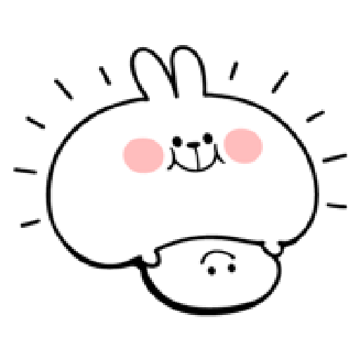 spoiled rabbit smile person 10 - Sticker 2