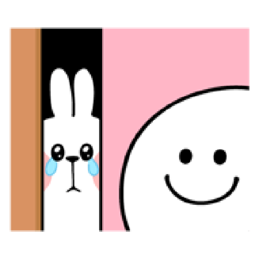 spoiled rabbit smile person 10 - Sticker 15