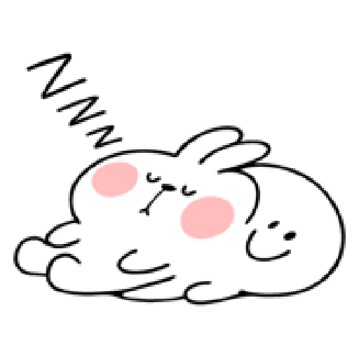 spoiled rabbit smile person 10 - Sticker 11