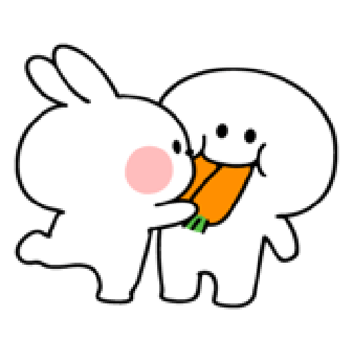spoiled rabbit smile person 10 - Sticker 4