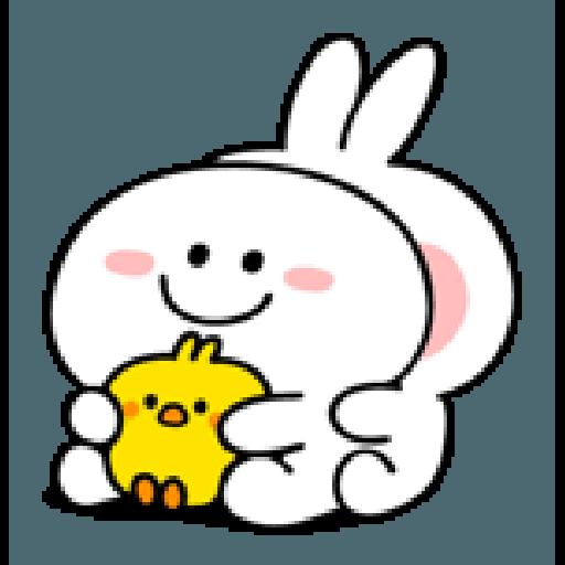 spoiled rabbit smile person 10 - Sticker 10