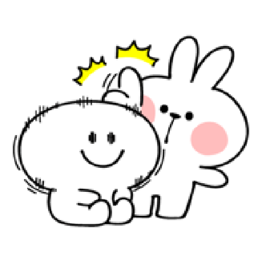 spoiled rabbit smile person 10 - Sticker 25