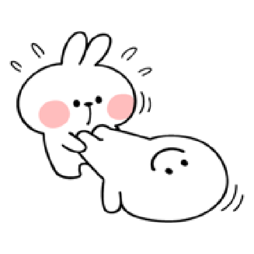 spoiled rabbit smile person 10 - Sticker 1