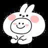 spoiled rabbit smile person 10 - Tray Sticker