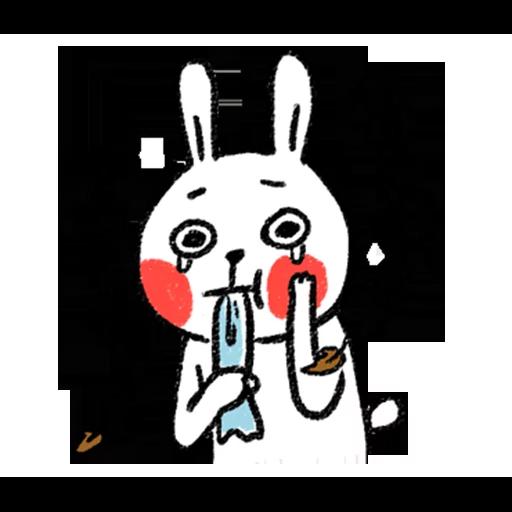懶散兔與啾先生 - Tray Sticker