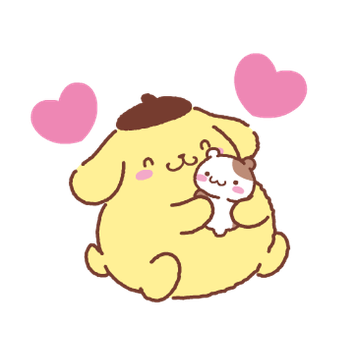 Pompompurin watercolor - Sticker 1