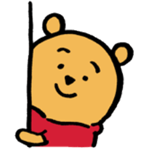 Pooh head - Sticker 15