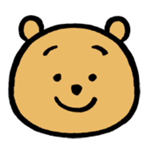 Pooh head - Sticker 1