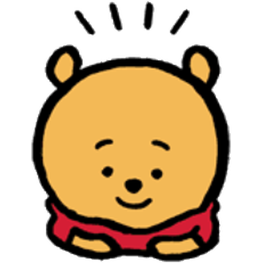 Pooh head - Sticker 11