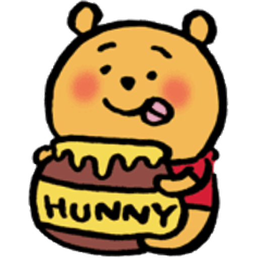 Pooh head - Sticker 13