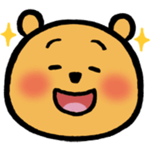 Pooh head - Tray Sticker
