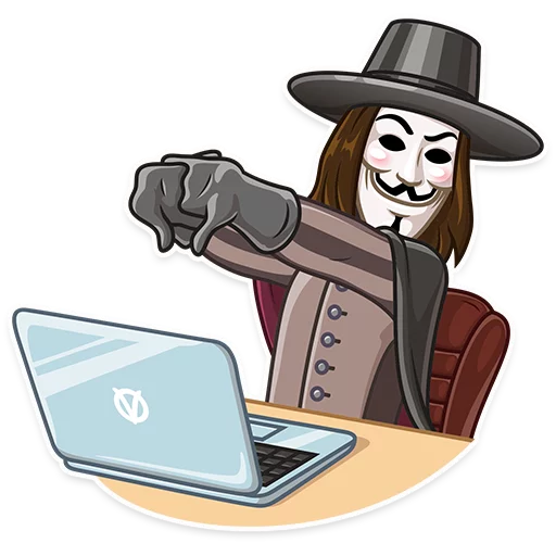 Guy Fawkes - Sticker 9