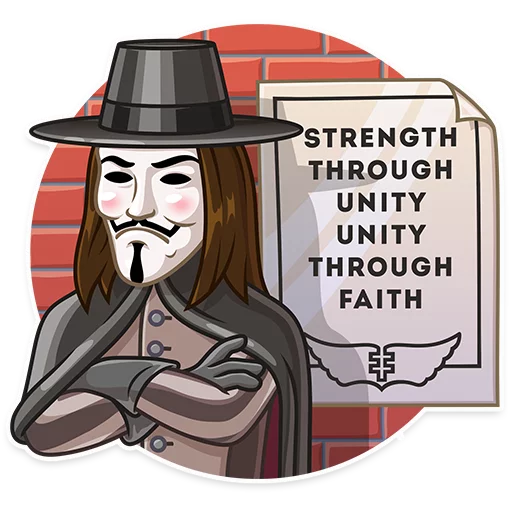 Guy Fawkes - Sticker 23