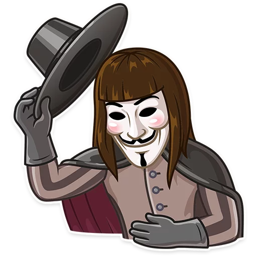 Guy Fawkes - Sticker 5