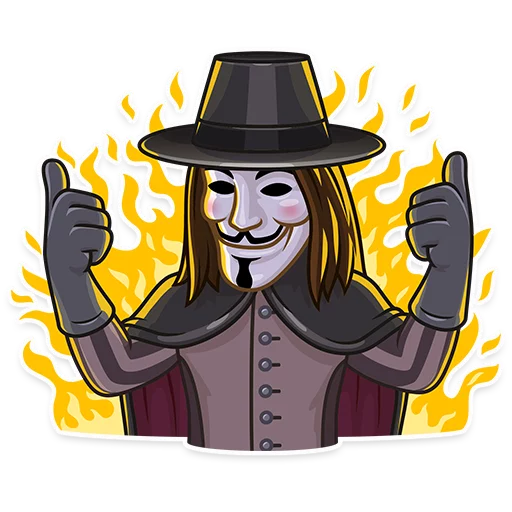 Guy Fawkes - Sticker 3
