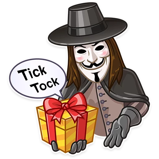 Guy Fawkes - Sticker 7