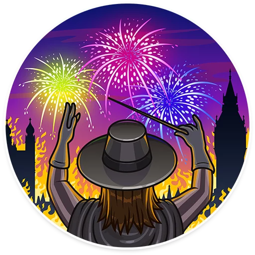 Guy Fawkes - Sticker 6