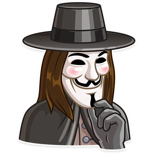 Guy Fawkes - Sticker 14