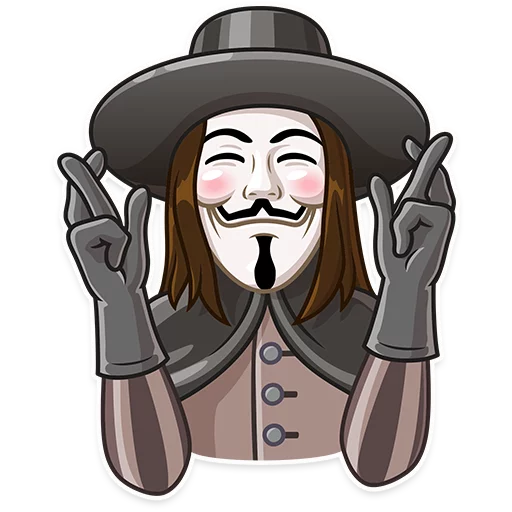Guy Fawkes - Sticker 17