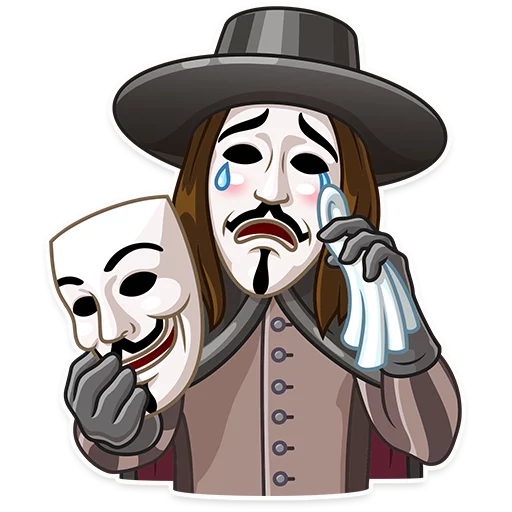 Guy Fawkes - Sticker 19